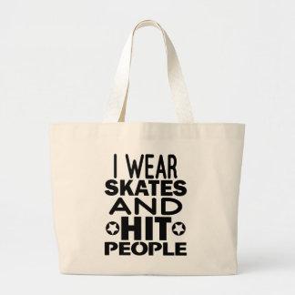 Grand Tote Bag Je porte des raies et des personnes de coup,