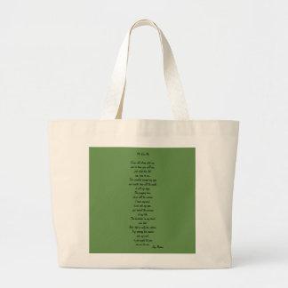 Grand Tote Bag je pour moi poème sur fourre-tout