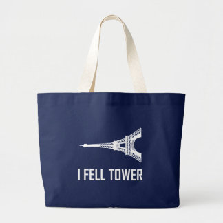 Grand Tote Bag Je suis tombé Tour Eiffel