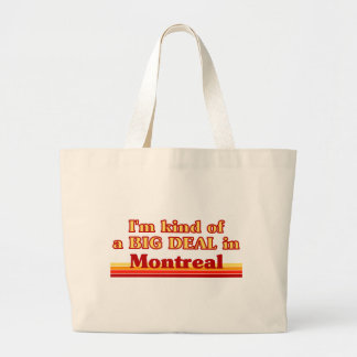 Grand Tote Bag Je suis un peu une affaire à Montréal
