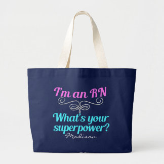 Grand Tote Bag Je suis un super héros de RN
