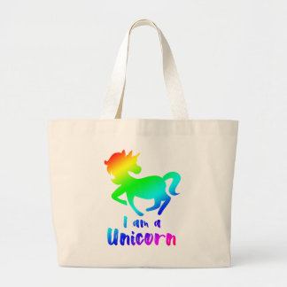 Grand Tote Bag Je suis une licorne - conception magique