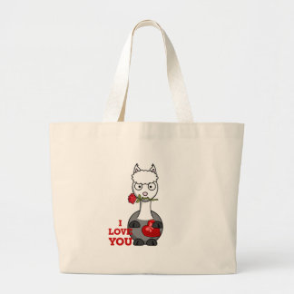 Grand Tote Bag je t'aime alpaga