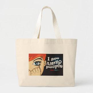 Grand Tote Bag Je vois des personnes d'Ambo