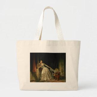 Grand Tote Bag Jean-Honore Fragonard - le baiser volé -