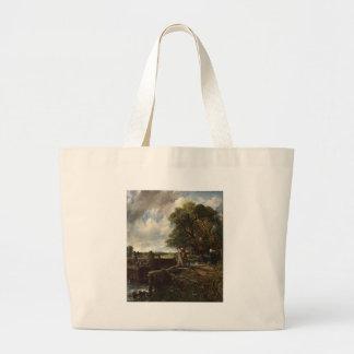 Grand Tote Bag John Constable - la serrure - paysage de campagne