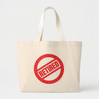 Grand Tote Bag joint retiré - timbre rond