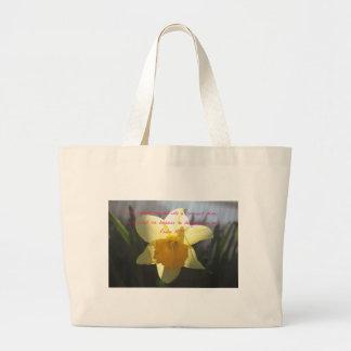 Grand Tote Bag Jonquille de jaune de 18h19 de psaume