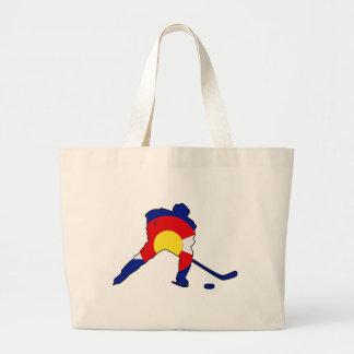 Grand Tote Bag Joueur de hockey du Colorado