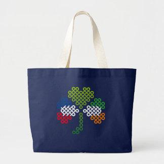 Grand Tote Bag Jour américain irlandais de trèfle et de St