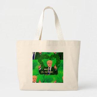 Grand Tote Bag Jour de la Saint Patrick Donald Trump