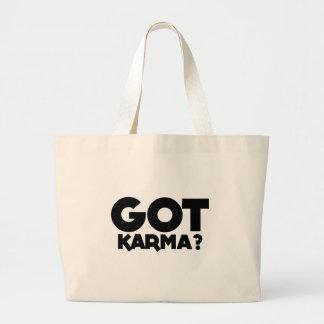 Grand Tote Bag Karma obtenu, mots des textes