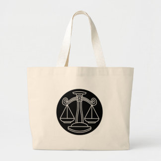 Grand Tote Bag La Balance mesure le signe de zodiaque d'horoscope