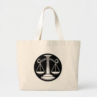 Grand Tote Bag La Balance mesure le signe d'horoscope de zodiaque