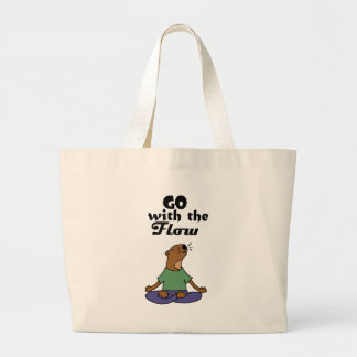 Grand Tote Bag La bande dessinée fraîche de yoga de loutre de mer