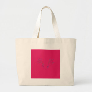 Grand Tote Bag La conception s'envole Eco rouge