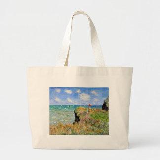 Grand Tote Bag La falaise de Pourville de Claude Monet