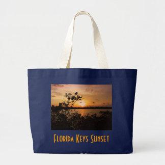 Grand Tote Bag La Floride verrouille le coucher du soleil