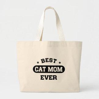 Grand Tote Bag La meilleure maman de chat jamais