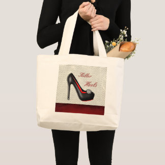 Grand Tote Bag La mode Girly de chaussures de talons de tueur
