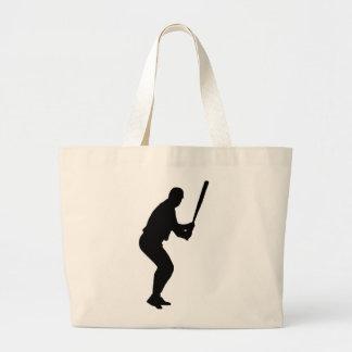 Grand Tote Bag La pâte lisse de base-ball donne un petit coup des