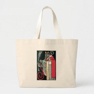 Grand Tote Bag La petite aide de Père Noël