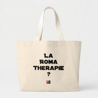 Grand Tote Bag LA ROMA THÉRAPIE ? - Jeux de mots - Francois Ville