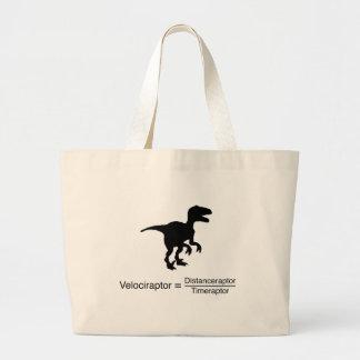 Grand Tote Bag la science drôle de velociraptor
