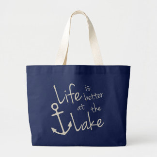 Grand Tote Bag la vie est meilleure au lac