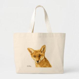 Grand Tote Bag La vie sauvage rouge britannique de Fox