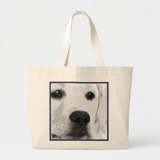 Grand Tote Bag Labrador retriever noir et blanc