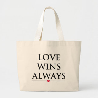 Grand Tote Bag L'amour gagne toujours