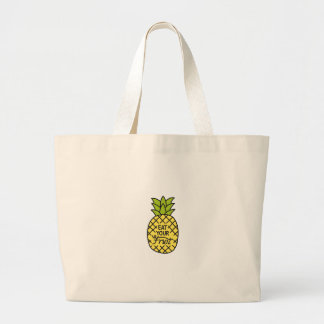 "Grand Tote Bag L'ANANAS, des chemises ""mangent de votre fruit"","