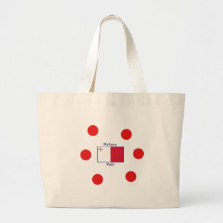 Grand Tote Bag Langue (de Malti) et conception maltaises de