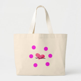 Grand Tote Bag Langue maltaise de conception d'amour