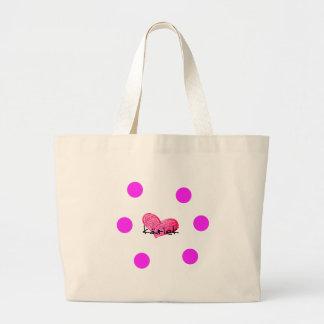 Grand Tote Bag Langue suédoise de conception d'amour