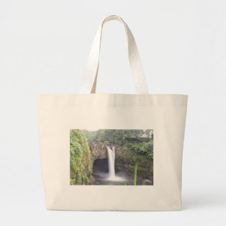 Grand Tote Bag L'arc-en-ciel tombe Hawaï