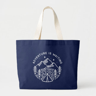 Grand Tote Bag L'aventure attend Fourre-tout enorme