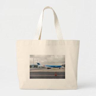 Grand Tote Bag L'avion à l'aéroport