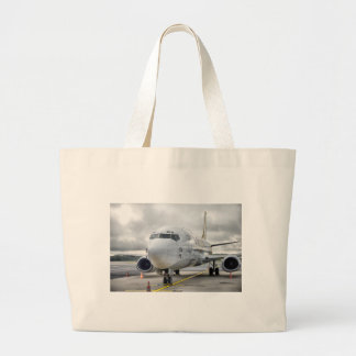 Grand Tote Bag L'avion à l'aéroport sur la route