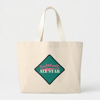 Grand Tote Bag Le base-ball All Star