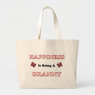 Grand Tote Bag Le bonheur est mamie