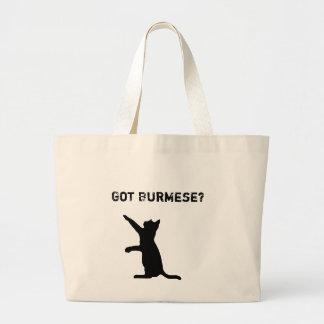 "Grand Tote Bag Le chat birman espiègle avec ""est devenu birman ?"""