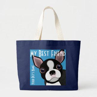 Grand Tote Bag Le chienchien de mon Bostie