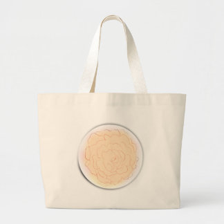 Grand Tote Bag Le chou orange de sorbet s'est levé