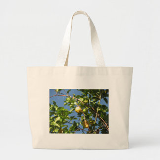 Grand Tote Bag Le citron porte des fruits accrochant sur l'arbre