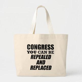 Grand Tote Bag Le congrès/abrogé et remplacé