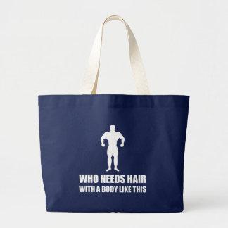 Grand Tote Bag Le corps chauve de cheveux aiment ceci drôle