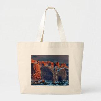 Grand Tote Bag le désert foncé bascule des formes