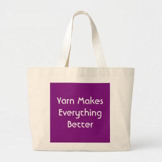 Grand Tote Bag Le fil rend tout meilleur